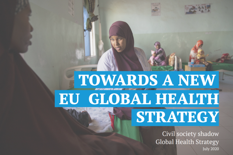 Civil society launches shadow EU global health strategy in light of the COVID-19 pandemic
