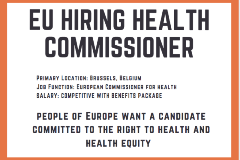 Who should become EU Health Commissioner?