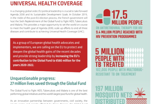 Civil society calls on the European Commission to pledge €580 million for the Global Fund to fight AIDS, TB & Malaria