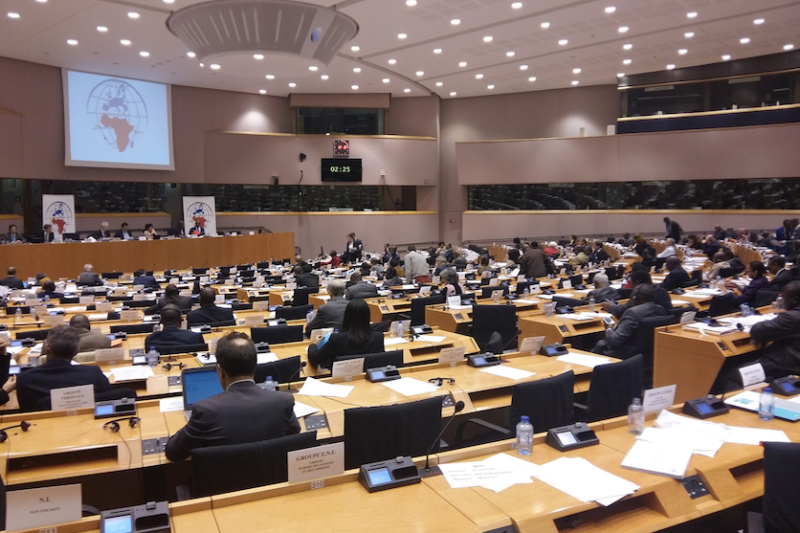 Global Fund Executive Director addresses parliamentarians from 106 countries at European Parliament in Brussels