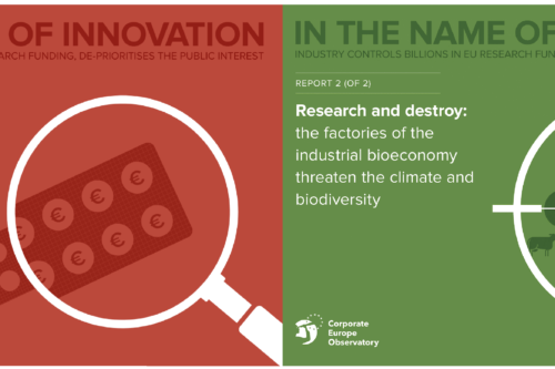 New reports 'In the name of innovation' show industry controls billions for EU's health and climate research